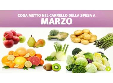 Verdura e frutta di stagione marzo: cosa mangiare?