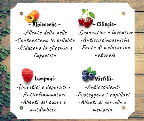 frutta e verdura di stagione giugno